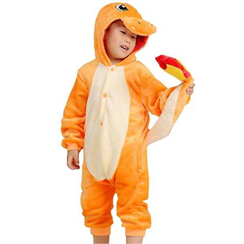 (CYSPORTS Kids Cartoon Onesies Pajamas Children's Unisex Cosplay Costume Sleepwear)