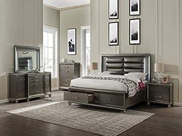Amazon.com: Esofastore 4pc Contemporary Bedroom Furniture ...