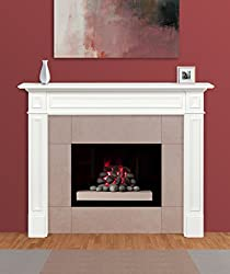Pearl Mantels Marshall Fireplace White Paint Mantel Surround from Pearl Mantels