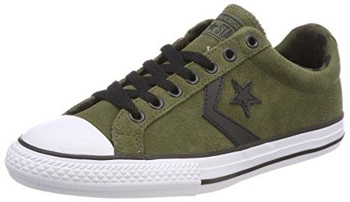 Converse Unisex-Kinder Star Player Ox Herbal/White/Black Sneaker Grün (Herbal/White/Black)