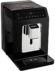 Krups EA8908 Evidence volautomatische espressomachine, OLED-display Barista Quattro Force technologie, 12 koffievariaties, 3 thee-variaties, one-touch cappuccino-functie, 2-kops-functie, zwart-chroom