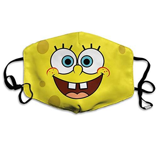 CFECUP Mouth Mask Spongebob-Squarepants-Phone-Wallpaper Anti-dust Polyester Face Mask Unisex