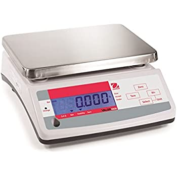 Ohaus Compact Bench Scales - Valor 1000 Compact Scales Model V11P15, 33lb x 0.005lb, 520oz x 0.1oz, 15kg x 2g default resolution