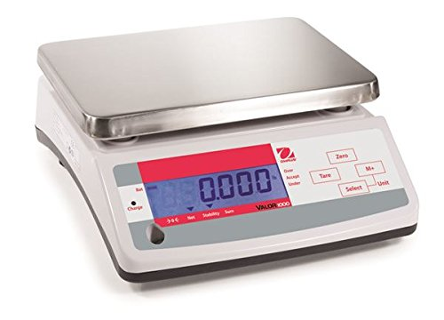 Ohaus Compact Bench Scales - Valor 1000 Compact Scales Model V11P6, 13lb x 0.002lb, 210oz x 0.05oz, 6kg x 1g default resolution ()