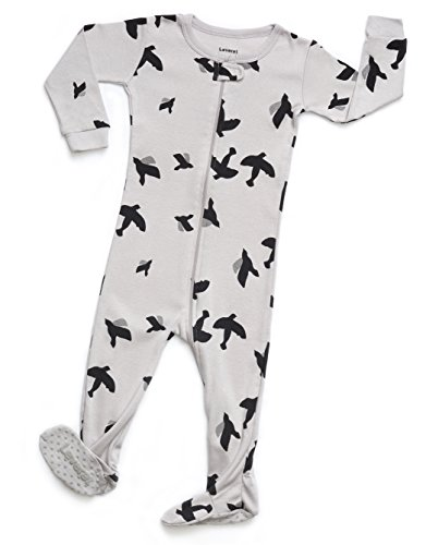 Leveret Organic Cotton Bird Footed Pajama Sleeper 3-6 Months