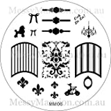 MESSY MANSION MM06 Nail Art Stamping Plate - French Girl
