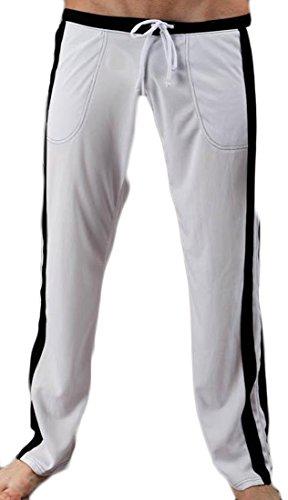 hot sell Fulok Men's Loose Fit Sport Drawstring Elastic Pocket Pajama Pants hot sale