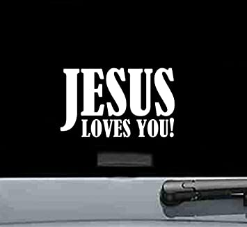Truck Vintage Signs Southern Vinyl Wall Decals Car Jesus loves you Vinyl Car Decal Vinyl Decal Window Decals