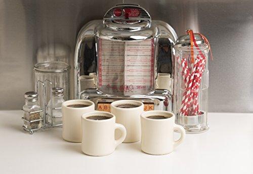 American Mug Pottery Ceramic Diner Style Coffee Mug, Made in USA, Ivory, 11 oz - Pack of 4 (Ivory Coffee Mug)