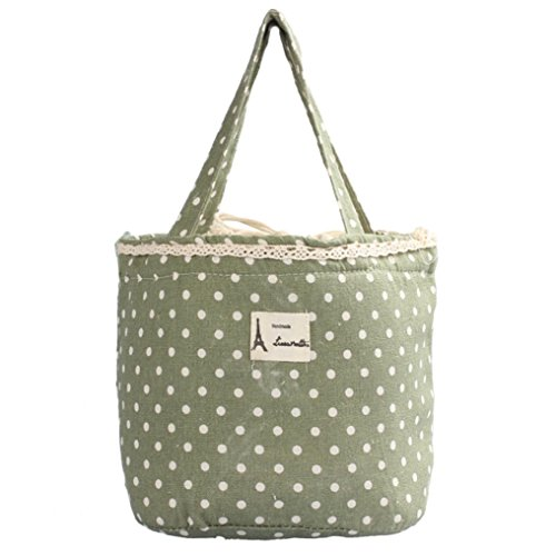 Mini Snack Tote,IEason Clearance Sale! Thermal Insulated Lunch Box Tote Cooler Bag Bento Pouch Lunch Container (Green)