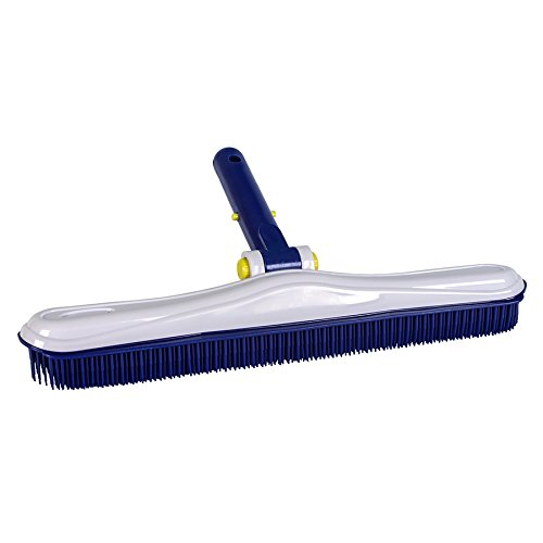 Aqua EZ 16-in Plastic Wall Brush Pool Brush Safe for...