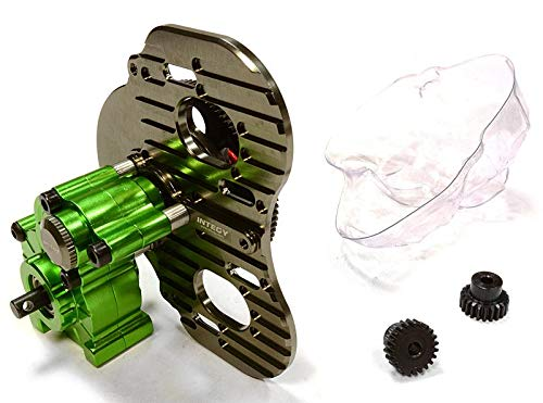 - Integy RC Model Hop-ups C26028GREEN Billet Machined Twin Motor Type Complete Center Gearbox for Axial 1/10 SCX-10