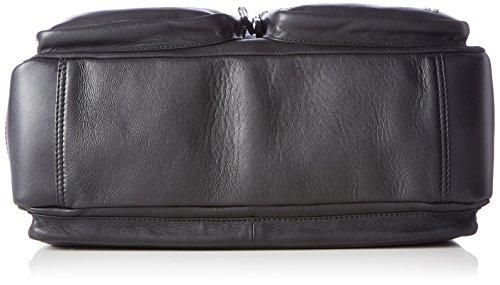 Tosca Blu Herren Mister Laptop Tasche, Schwarz (Black), 17 x 26 x 43 cm