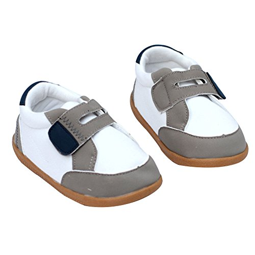 Kuner Baby Boys and Girls Cotton Rubber Sloe Outdoor Sneaker First Walkers Shoes (13.5cm(12-18months), White-2)