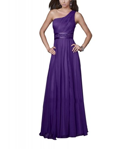 Lila Mantel Ein Applikationen GEORGE Liebsten Abendkleid Spalte mit BRIDE Perlen Shoulder 1qq4wv