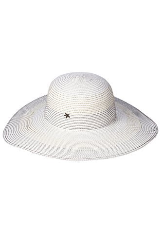 Beach by Florabella Women's Francesca Wide Brim Hat White/Metallic Multi One by Beach by Florabella