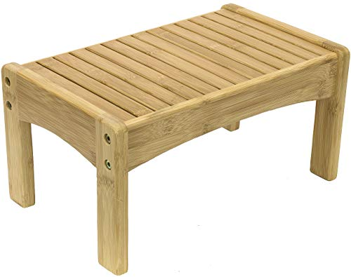 Footstool Bamboo - Sorbus Small Bamboo Step Stool [New-Improved Design] Great Foot Rest Stool & Potty Training Stool for Kids Toddlers