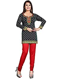 Maple Clothing Womens Printed Short Kurti Tunic Top Blouse Indian Clothes
