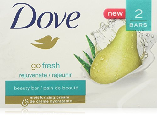 Dove Go Fresh Beauty Bar Pear and Aloe Vera, 4 Ounce, 2 bars