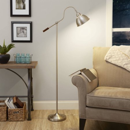 Captivating Better Homes And Gardens Adjustable Arm Floor Lamp, Brushed Nickel (No Bulb  Included)