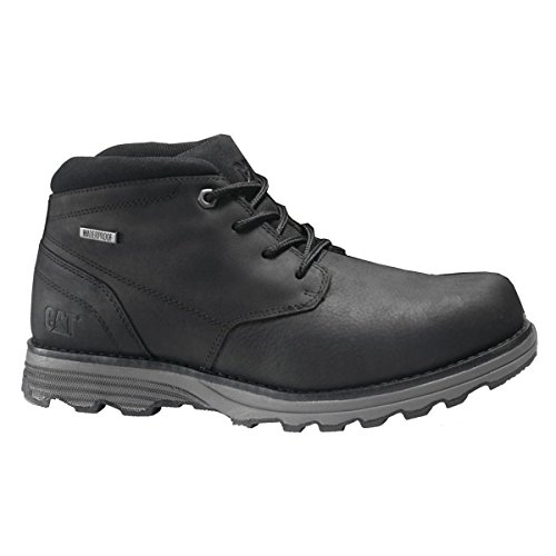 Caterpillar Mens Elude Waterproof Leather Boots Black