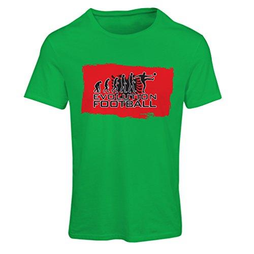 lepni.me Ladies T-Shirt Football Evolution - Albania, Championship, World Cup Soccer Team Fan Shirt (XX-Large Green Multi Color)