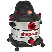 Shop-Vac 5989400 8-Gallon 6.0 Peak HP Stainless Steel Wet Dry Vacuum, 30.3L, Black