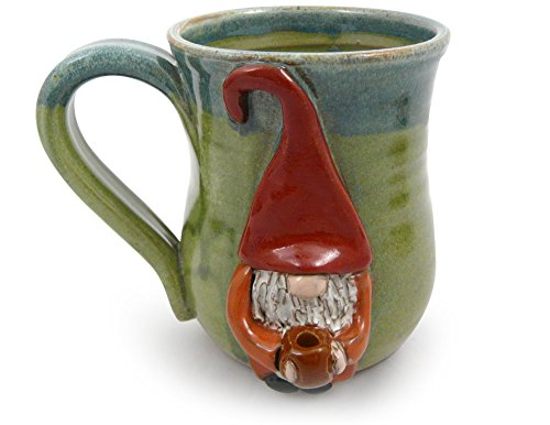 American Made Stoneware Pottery Java Gnome Coffee Mug