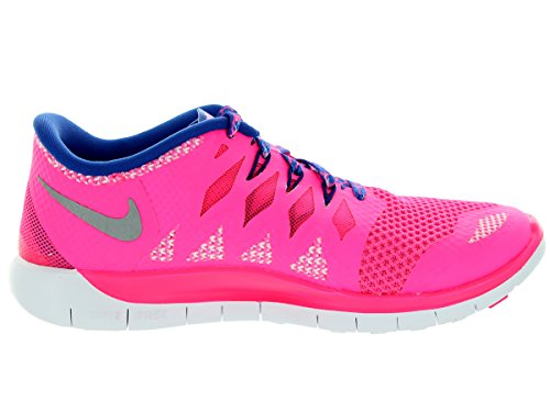 Nike Free 5.0 (GS) Laufschuhe hyper pink-metallic silver-game royal-deep purple - 36