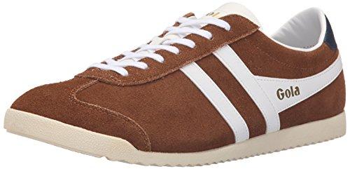 Gola Herren Kugel Suede Fashion Sneaker Tabak / Weiß
