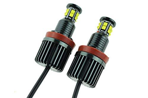 MegaLED Lot de 2 ampoules Angel Eyes pour B-M-W H8 E81 E82 E87 E88 E90 E91 E92 E93 E63 E64 F1 M6 E89 Z4 X5 E70 X6 E71