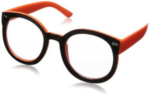 MLC Eyewear Retro Oval Style Round Sunglasses,Black & Orange,50 - 2014 Sunglass Styles