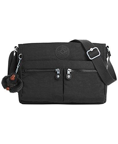 Kipling Women's Angie Black Tonal Crossbody Bag, t