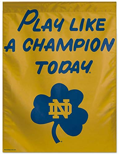 Cheeper Eletina Ds Notre Dame Decorations Notre Dame Play Like a Champion Today NCAA 28 x 40 Inch Vertical Flag Vertical Play (Ou Play Like A Champion Today Sign)