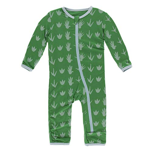 Kickee Pants Little Boys Print Coverall with Zipper - Dino Tracks, 6 Years