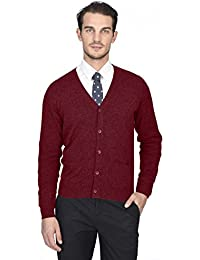 Men's 100% Pure Cashmere Button Front Long Sleeve Cardigan Sweater