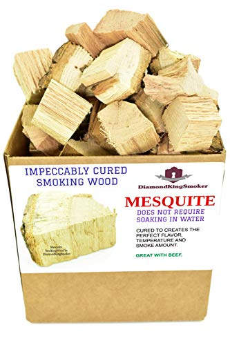 DiamondKingSmoker Smoking Wood Chunks 100% All Natural Barbecue Smoker Chunks for Grilling and BBQ | Large Cut Smoker Chips | Season Air-Dried for Premium Flavor Profile (Mesquite, 7 lbs)