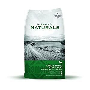 Diamond Naturals ADULT Large Breed Real Meat Recipe Natural Dry Dog Food with Real Cage Free Chicken 40lb