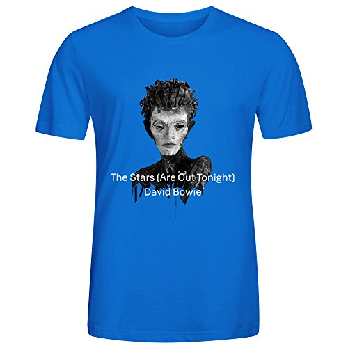 - David Bowie The Stars Are Out Tonight Men's O-Neck Music Tee Shirt Blue