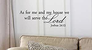 Decalgeek As for me and my house, we will serve the Lord Vinyl wall art Inspirational quotes and saying home decor decal sticker steamss