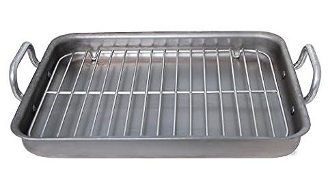 De Buyer 5664.40 Rectangular Steel Roasting Pan Mineral B Element