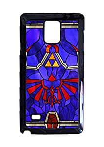 Engood Design Legend of Zelda Hylian Shield Stained Glass Case Durable Unique Design Hard Back Case Cover For Samsung Galaxy Note 4 New