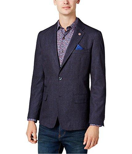 Ben Sherman Men's Two Button Slim Fit Mini Check Sportcoat, Blue/red 40 Long