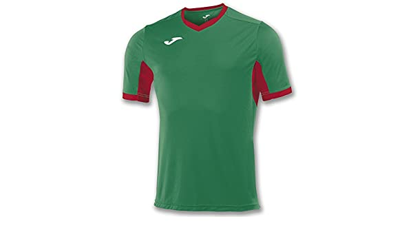 Amazon.com : Joma Teamwear T-Shirt Champion IV Short Sleeves Green-Red Uniforms CAMISETAS : Sports & Outdoors