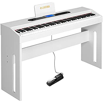 lagrima white digital piano 88 keys electric piano keyboard for beginner adults w. Black Bedroom Furniture Sets. Home Design Ideas