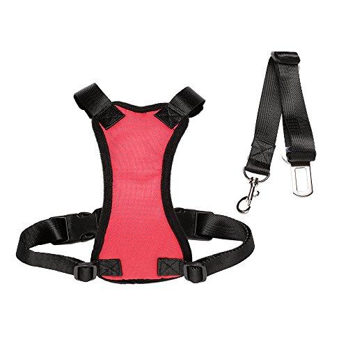 HANCIN Pet Cat Dog Car Harness Vest with Car Seat Belt
