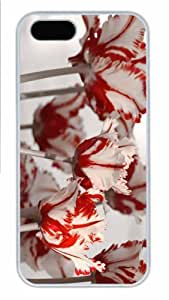 Hot iPhone 5S Customized Unique Print Design Parrot Tulips 2 New Fashion PC White iPhone 5/5S Cases
