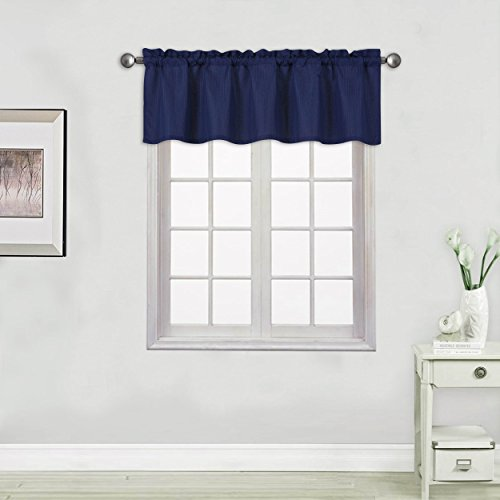 "EliteHomeProducts Lines Design Straight Valance 54"" X 16"", 2"