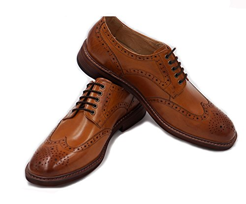 Oyangs Oxford Shoes Men,Mens Oxford Shoes For Men Oxford Men Mens Oxfords Leather Oxfords Wingtip Oxford Shoes Brown Oxford Shoes ME5 A
