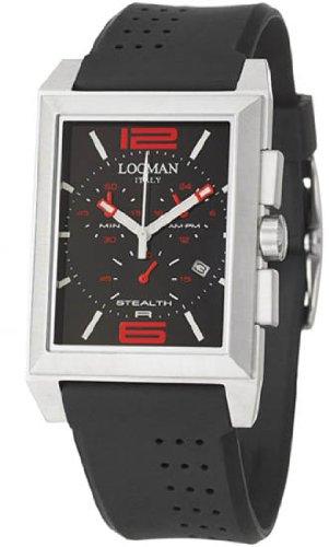 Locman Sport Stealth Rectangular Men's Quartz Watch 242BKRD1BK